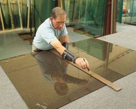 Режем декоративные стёкла